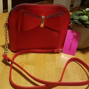 Betsey Johnson Bags - Betsey Johnson bow dome bag red NWT